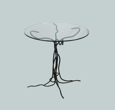 Glass Tree Table