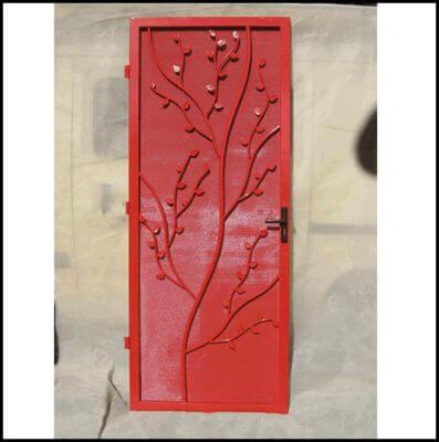 All steel security door - Tree design