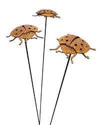 Ladybird Beetle Stake Garden Art