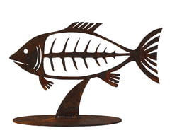 Fish Stand Garden Art