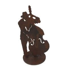 Jazz Double Bass Musician on stand