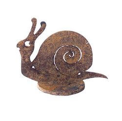 Snail Stand Garden Art