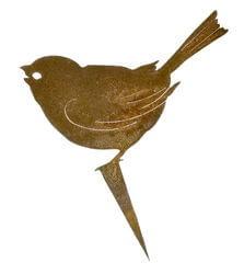 Sparrow Stake Garden Art