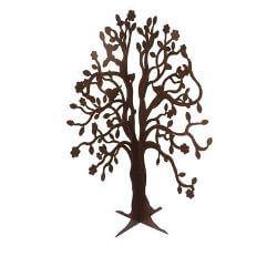Spring tree standing metal garden sculpture
