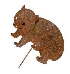 Small Wombat Stake Garden Art
