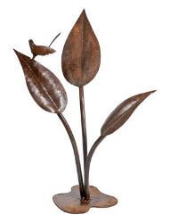 Wren on Large Leaves