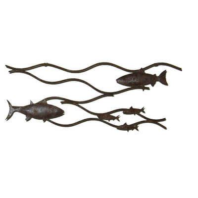 Metal Wall art by Overwrought - 2 Fish Wall Art