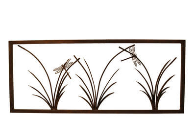 Metal Wall art by Overwrought - 3 Reed Panel Wall Art - Small