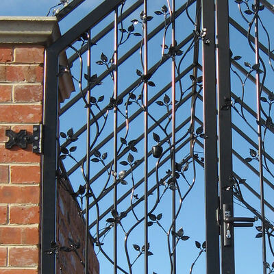 Wrought Iron Gate - Apple Gate close up