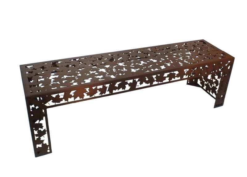 Autumn Leaves Metal Garden Bench Seat