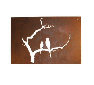 Metal Wall art by Overwrought - Bird Branch Wall Art