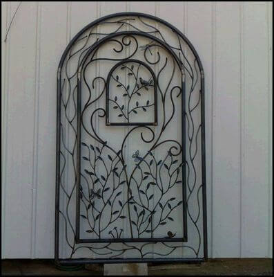 Wrought Iron Gate by Overwrought -  Birdcage Gate