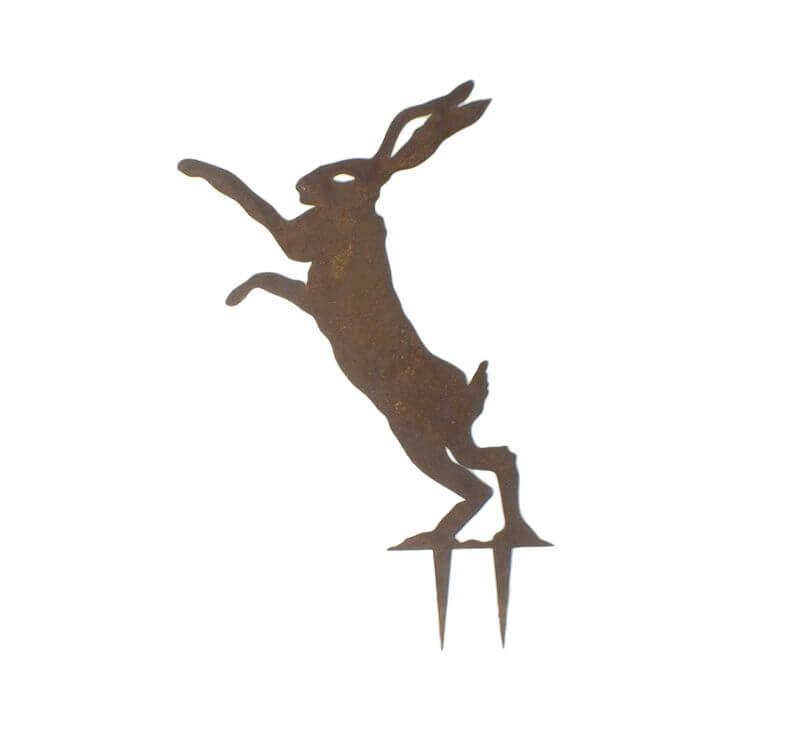 Boxing Hare Stake 1 Garden Art