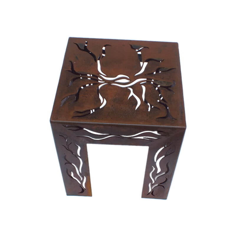 Branch Garden Metal Stool