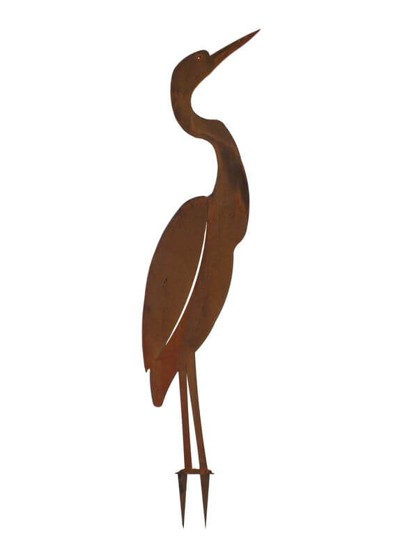 Brolga Wedge Stake One Garden Art