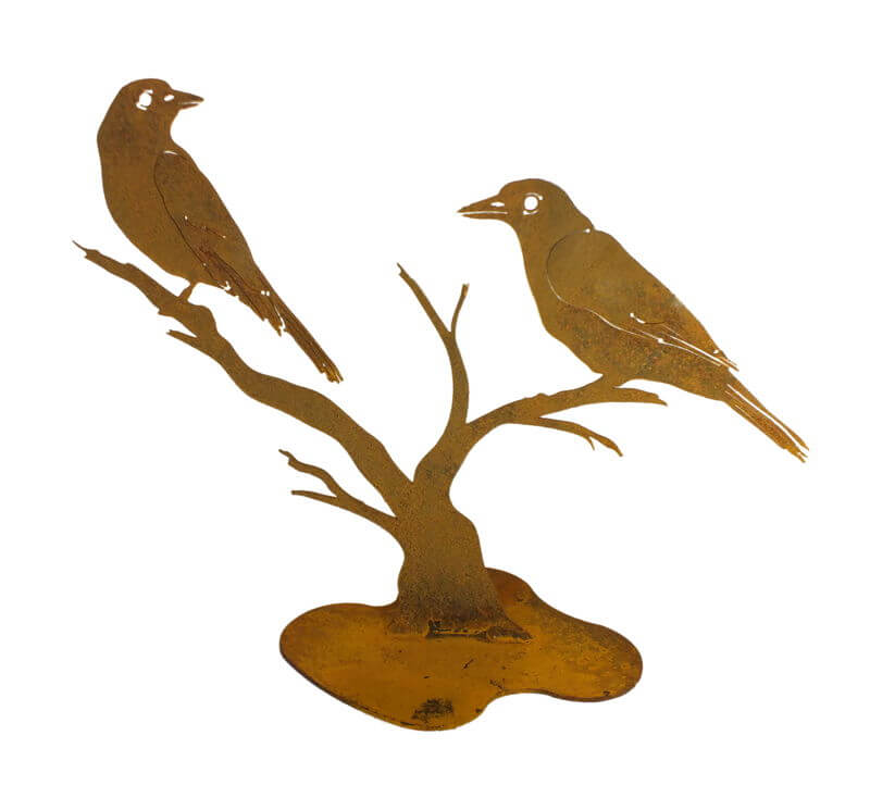 Butcher Birds Stand Garden Art