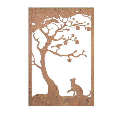 Cat and Bird Wall art panel