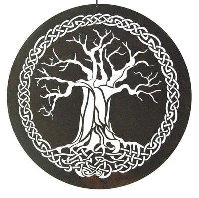Celtic Wall Art celtic tree metal garden wall art - australian made | ebay