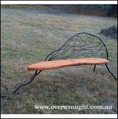 Individually made outdoor Steel furniture By Overwrought -Chez Lounge Seat