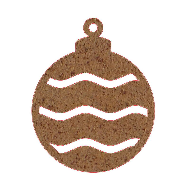 Christmas Bauble Decoration Small Two Garden Art