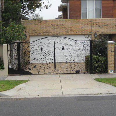 Wrought Iron Gate by Overwrought -  Cockatoo Gate