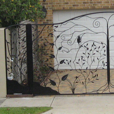 Wrought Iron Gate by Overwrought -  Cockatoo Gate left