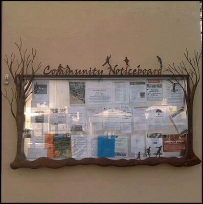 Custom Made Wrought Iron signs - Creswick Community Noticeboard