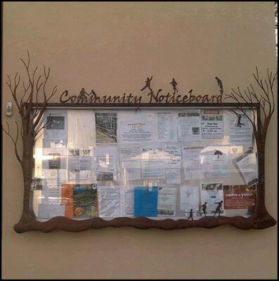 Custom Made Wrought Iron signs - Creswick Community Noticeboard