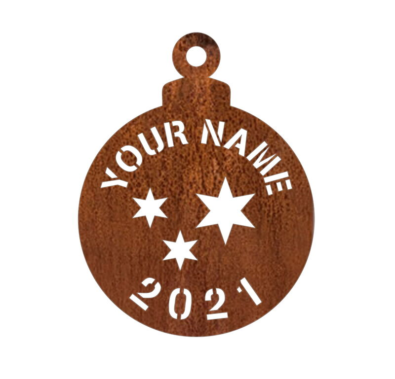 Customised Christmas Bauble for 2020