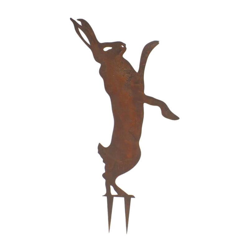 Dancing Hare Stake 2 Garden Art