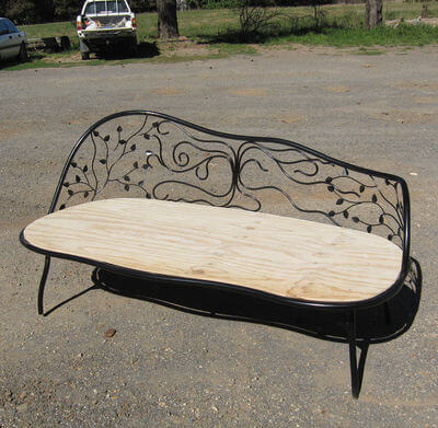 Individually made outdoor Steel furniture By Overwrought - Daybed