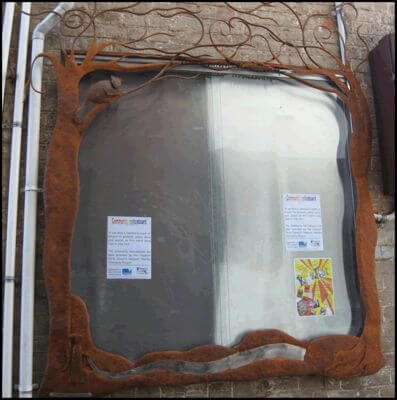 Custom Made Wrought Iron signs - Daylesford Community Noticeboard