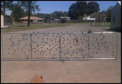 Wrought Iron Gate by Overwrought -  Decorated Farm Gate