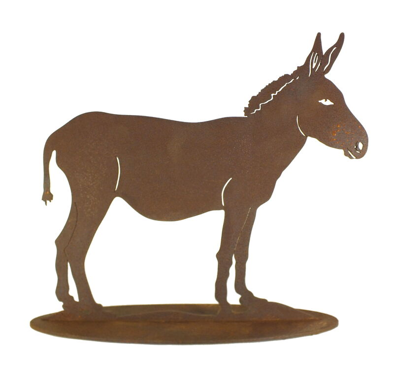 Donkey Stand Large Garden Art
