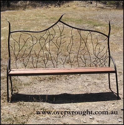 wrought Iron garden seat by overwrought - Doreen Seat