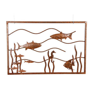 Metal Wall art by Overwrought - Fish Tank Wall Art