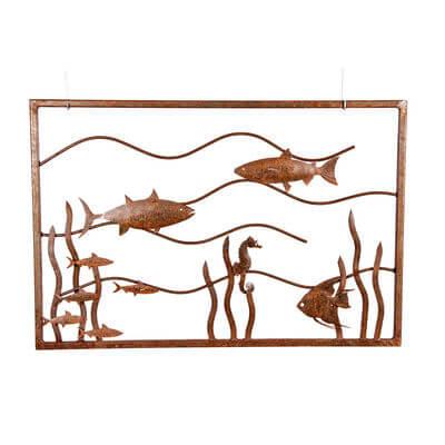Metal Wall art by Overwrought - Fish Tank Wall Art