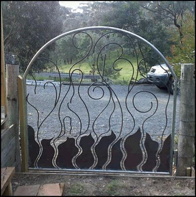 Wrought Iron Gate by Overwrought -  Flame Gate