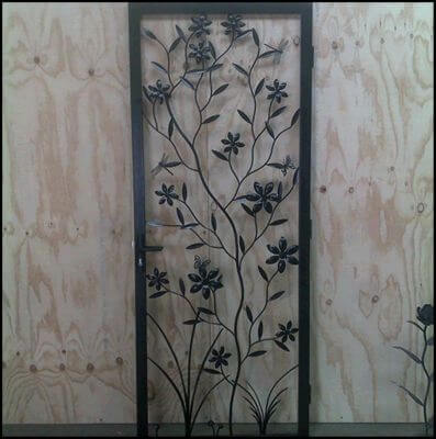 Security Screen Door by Overwrought - Flower Door
