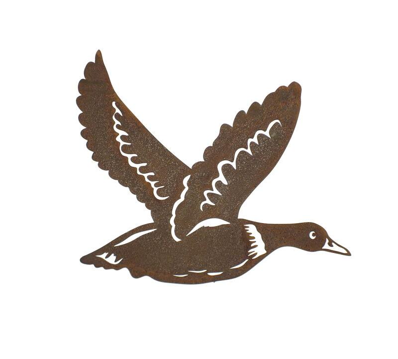 Flying Duck Small Metal Wall Art
