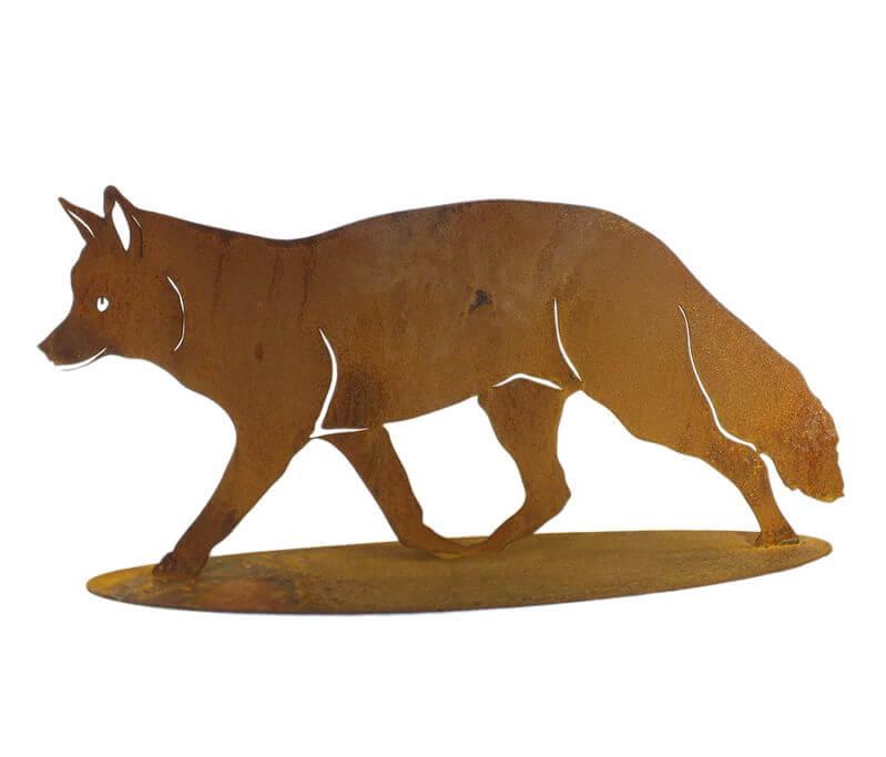 Fox Stand Garden Art