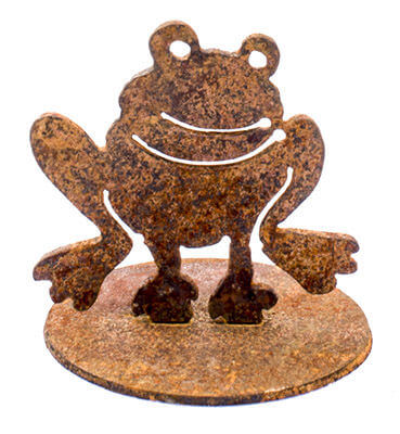 Frog Metal Garden Art Sculpture