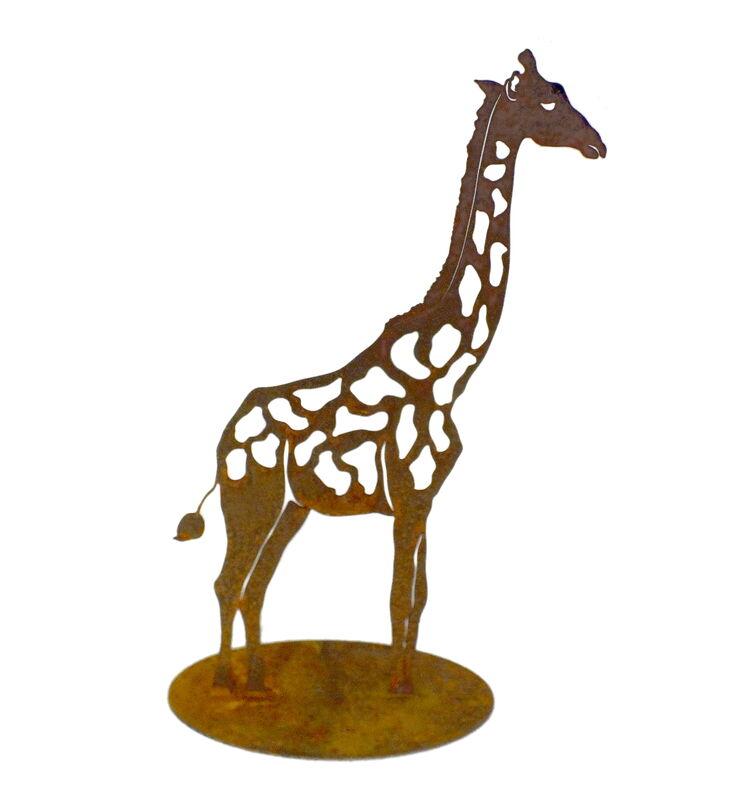 Giraffe Stand Garden Art