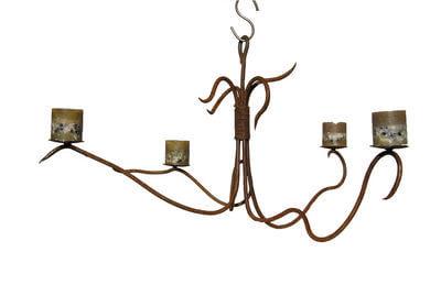 Handmade Australian wrought iron furniture - hanging candleabra