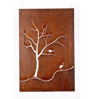 Unique Steel Garden art by Overwrought -Herons Wall Art