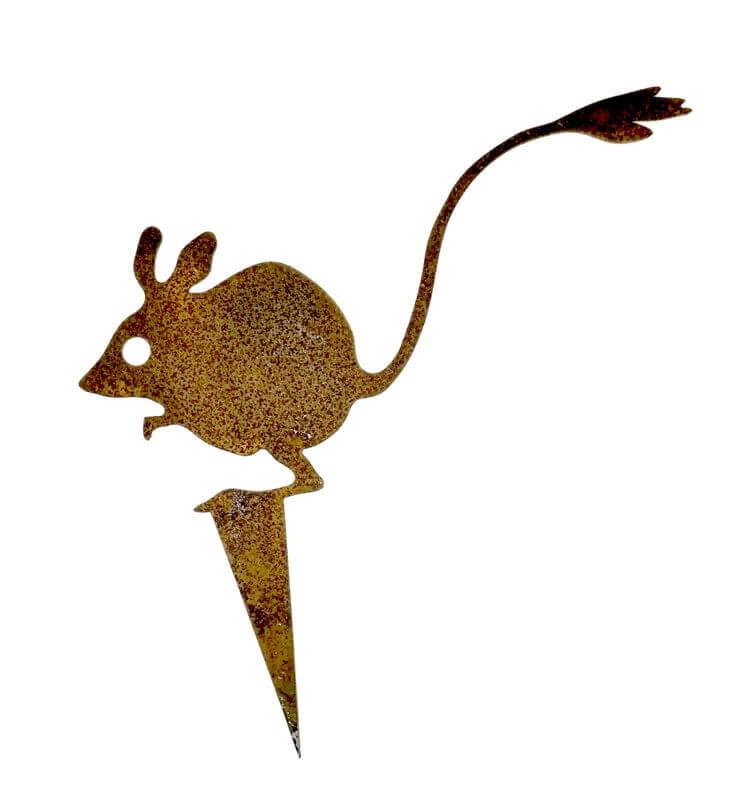 Hopping mouse garden stake