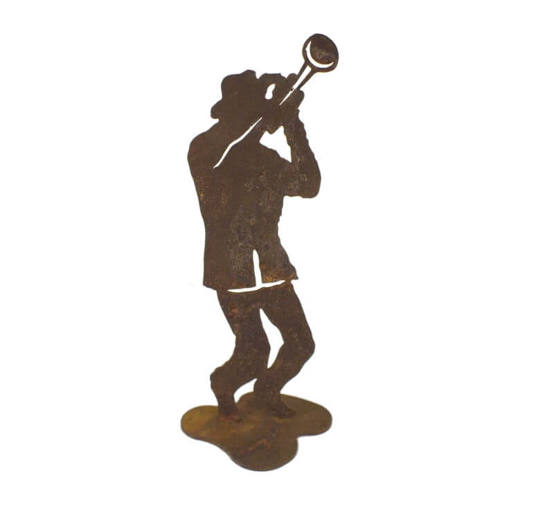 Jazz Trumpet Player Medium Stand Garden Art