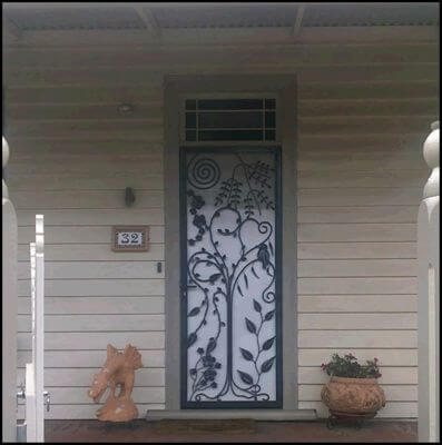 Security Screen Door by Overwrought - Jillians Door
