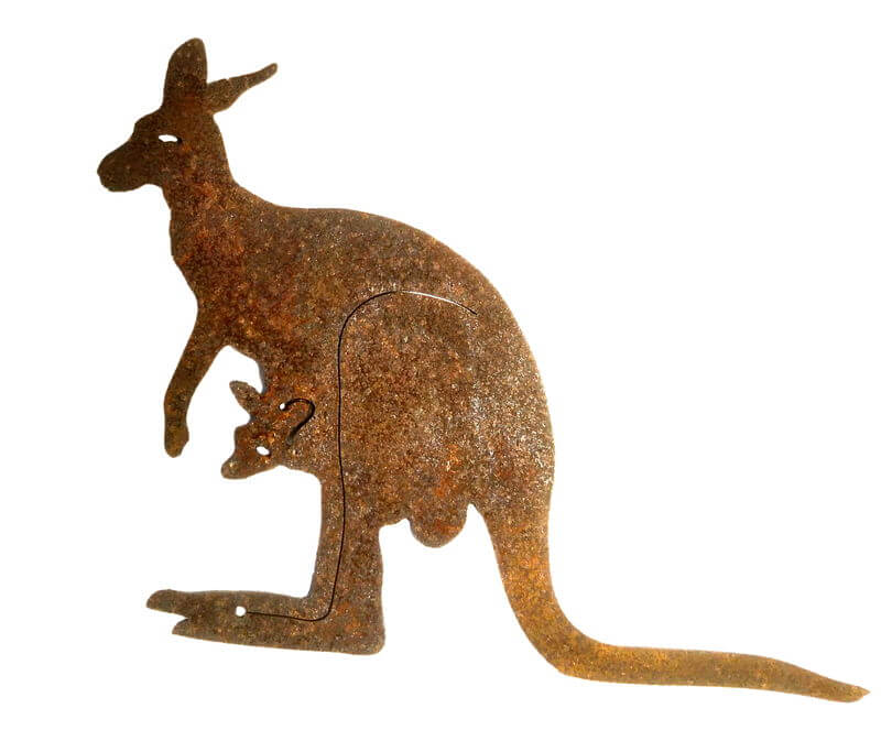 Kangaroo and Joey Magnet Garden Art