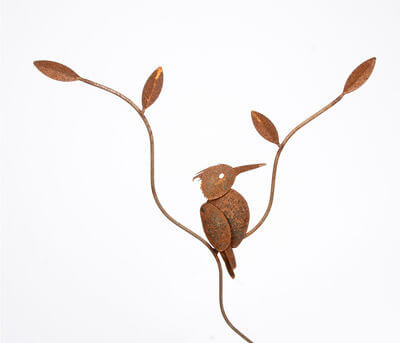 Garden stakes By Overwrought - Kingfisher Garden Stake